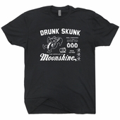 Drunk Skunk Moonshine T Shirt Funny Beer Alcohol Tee Shirts