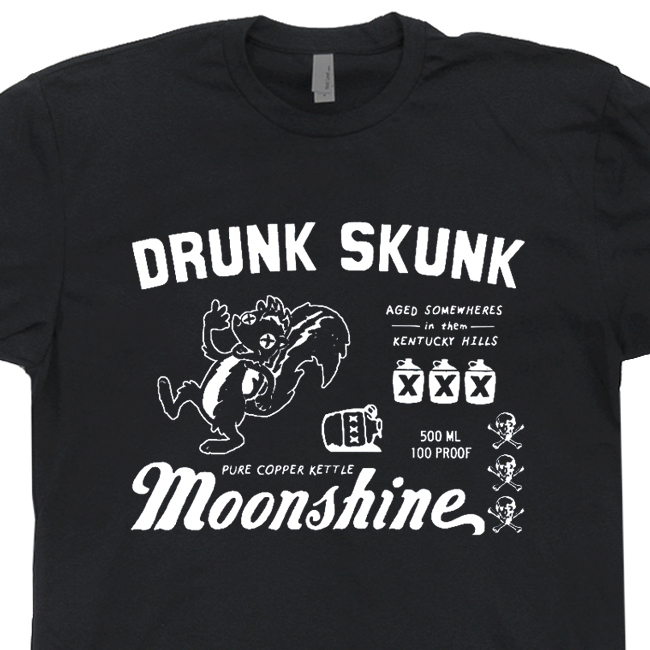 Moonshine T Shirts | Funny vintage Beer Tees | Jim Beam Tee Shirt