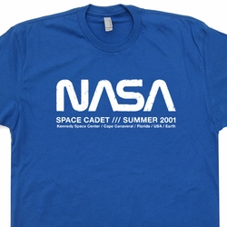 NASA T Shirt Space Cadet Vintage Shirts Science Geek Math Tees
