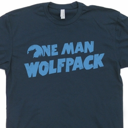 One Man Wolfpack T Shirt The Hangover Movie Funny Tees Wolf Pack Shirts