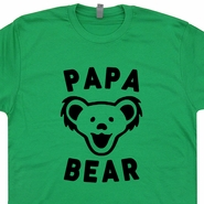 Papa Bear T Shirt Vintage Grateful Dead Dancing Bears T Shirt