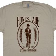 Penny Farthing Bicycle T Shirt Abraham Lincoln T Shirt