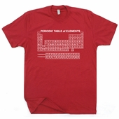 Periodic Table of Elements T Shirt Science Geek Bill Nye T Shirt
