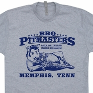 Pitmasters BBQ Championship T Shirt Elvis Presley Rockabilly Tee