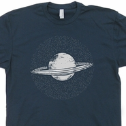 Planet Saturn T Shirt Vintage Nasa Science T Shirt Cool Geek T Shirts