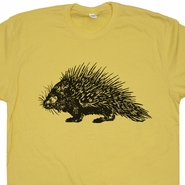 Porcupine T Shirt Funny Retro Animal T Shirts Cool Vintage Graphic Tee