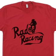 Rad Racing T Shirt BMX Bike racing Shirts Vintage 80s movies Tees Team Cru jones