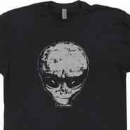 Realistic Alien Head T Shirt UFO Roswell New Mexico Tee Shirts