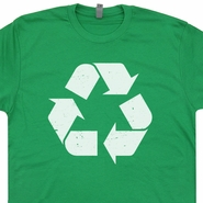 Recycle Logo T Shirts Funny Vintage Retro 80s Tees Karma Peace