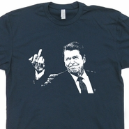 Ronald Reagan Flipping The Bird T Shirt Jeb Bush Republican T Shirt