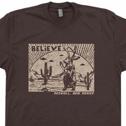 Roswell New Mexico UFO T Shirt Jackalope Believe Tee Shirt