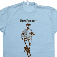 Run Forrest Gump T Shirt Funny Vintage Running T Shirts Ironman Triathlon Boston Marathon Shirts