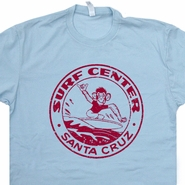 Santa Cruz Surf T Shirt Vintage Surfing Skateboards Shirts Surfboard Shirts