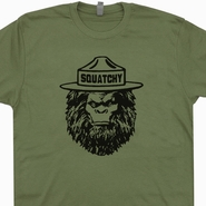 Sasquatch T Shirt Squatchy Vintage Smokey The Bear T Shirt Bigfoot T Shirt