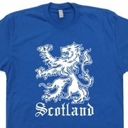 Scotland T Shirt Scottish Lion Flag Shirts Cool Soccer Rugby Tee Shirts