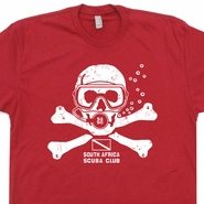 SCUBA Diving Club T Shirt Africa Scuba Shark Flag Shirts Skull Shirt