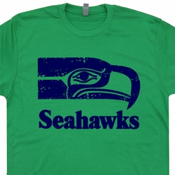 Seattle Seahawks Vintage T Shirt Throwback Retro T Shirts