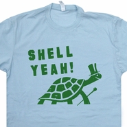 Shell Yeah T Shirt Funny Vintage Turtle Shirts Awesome Animal Shirts