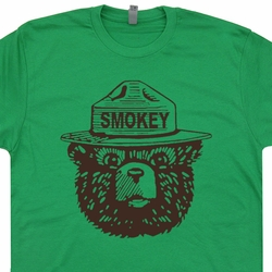 Smokey The Bear T Shirt Vintage Camping Hiking Tee Shirts