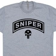 Marines Sniper T Shirt The Punisher Skull Vintage Military Shirts