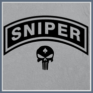 Sniper T Shirt Army Rangers Navy Seals Black Ops Call of Duty Tee