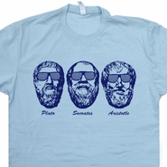 Socrates Aristotle Plato T Shirt Greek Three Philosophers Tee