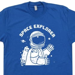 Space Explorer Vintage T shirt Nasa Science Tees Cool Geek T Shirts