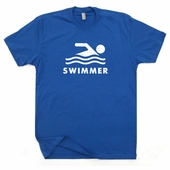 Swimmer Swimming T Shirt US Olympic Swim Team T Shirts Mens Womens Vintage Shirts
