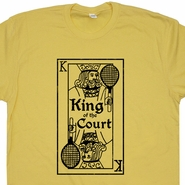 Tennis T shirt King Of The Court Vintage Funny T Shirt Retro Tennis Shirt
