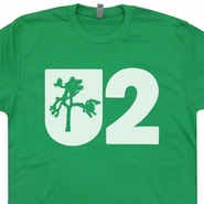 U2 T Shirt Irish Vintage Rock Design Bono Concert Joshua Tree Tee