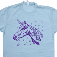 Unicorn T Shirt Vintage Horse Head Equestrian Tee Shirt Cryptozoology