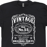 Vintage 55th Birthday T Shirts Funny 55th Birthday T Shirts Jack Daniels Shirt