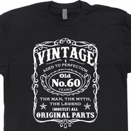 Vintage 60th Birthday T Shirts Funny 60th Birthday Shirts Jack Daniels Shirt