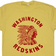 Washington Redskins Vintage T Shirt Retro Throwback Logo Tee Shirts