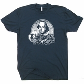 William Shakespeare T Shirt Shakespear Bard poetry Shirts Funny Vintage Shirts