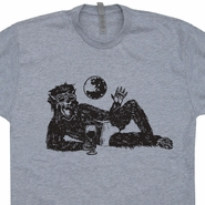 Wolfman in Underwear T Shirt Vintage Horror Movie Shirts Werewolf Retro Funny Tee