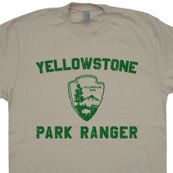 Yellowstone Park Ranger T Shirt Hiking Camping Vintage Tee