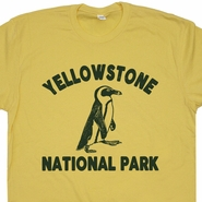 Yellowstone Penguin T Shirt Yellowstone National Park Tee