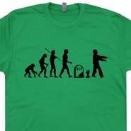 Zombie Evolution T Shirt The Walking Dead Funny Tees Shaun Of The Dead