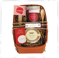 Strawberry Bushel Basket Gift Set