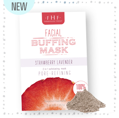 Strawberry-Lavender Facial Buffing Mask