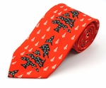 Abstract Christmas Tree Tie (Various Sizes Available for Men & Boys)