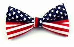American Flag Stars & Stripes Band Bowties