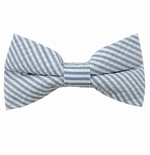 Baby Blue Seersucker Bow Ties / Men's & Boy's