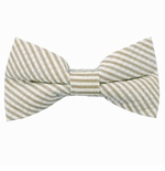 Beige Seersucker Bow Ties / Men's & Boy's