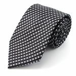 Black Diagonal Check Tie