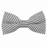 Black Seersucker Bow Ties / Men's & Boy's
