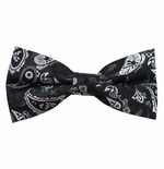 Black Tempest Bow Tie (Men's & Boys Styles)