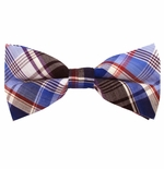 Blue & Black Uptown Cotton Plaid Bow Ties