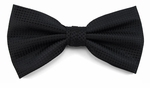 Boy's Black Woven Like Band Bow Tie